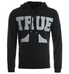 True Religion True Logo Hooded Sweatshirt - Coal
