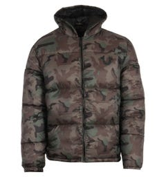 True Religion Hooded Puffer Jacket - Camo