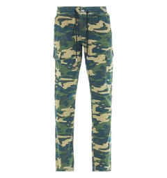 True Religion Green Camo Cargo Pants