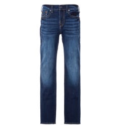 True Religion Ricky Flap Big T Relaxed Straight Fit Jeans - Indigo Removed