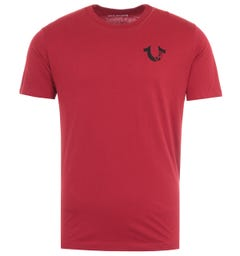 True Religion Letter Logo T-Shirt - Deep Red