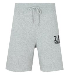 True Religion Lettering Logo Sweat Shorts - Heather Grey