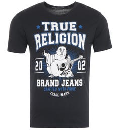 True Religion Buddha Star Logo T-Shirt - Black
