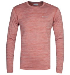 Columbia Zero Rules Red Heater Long Sleeve T-Shirt