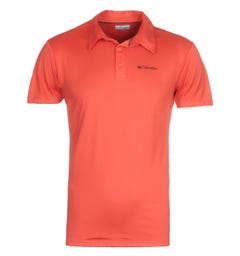Columbia Triple Canyon Red Tech Polo Shirt