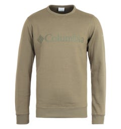 Columbia M Fleece Stone Green Logo Sweatshirt