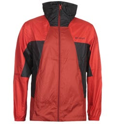 Columbia Red & Black Point Park Windbreaker Jacket