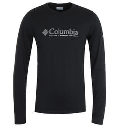 Columbia Lookout Point Black Omni Dot Long Sleeve T-Shirt