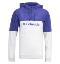 Columbia Lodge II Fleece Nimbus Grey & Purple Hooded Sweatshirt