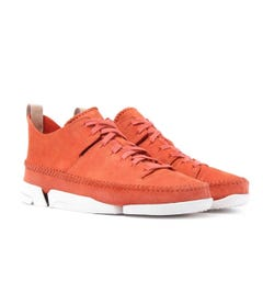 Clarks Originals Orange Nubuck Trigenic Flex Trainers