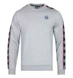 Sergio Tacchini Delaco Taped Grey Marl Sweatshirt