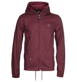Pretty Green Zip Up Burgundy Hooded Jacket