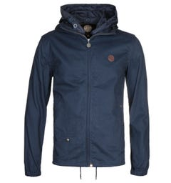 Pretty Green Zip Up Navy Hooded Jacket