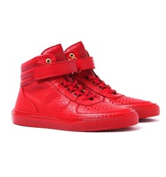 Android Homme Epsilon Mid 315 Red Hi Top Trainers