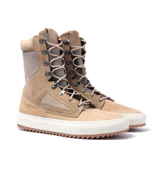 Android Homme Tan Suede Tactical Boots