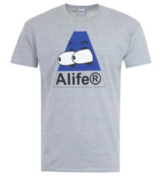 Alife Bugged Out Crew Neck T-Shirt - Heather Grey