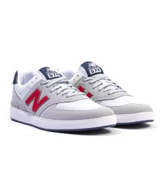 New Balance All Coasts AM574 Suede & Mesh Trainers - Grey & Red