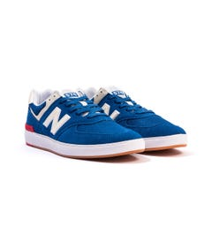 New Balance All Coasts AM574 Suede & Mesh Trainers - Blue