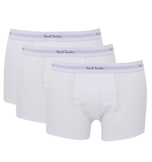 PS Paul Smith 3 Pack Boxer Trunks - White