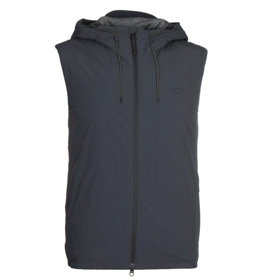 Lacoste Dark Grey Hooded Gilet