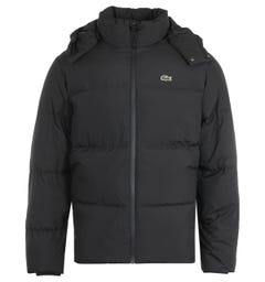 Lacoste Winter Removable Hood Black Down Jacket