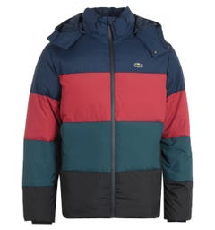 Lacoste Winter Removable Hood Multi Coloured Down Jacket