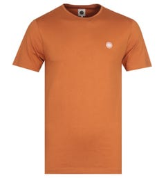 Pretty Green Mitchell Crew Neck Orange Jersey T-Shirt