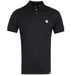 Pretty Green Polka Dot Black Polo Shirt