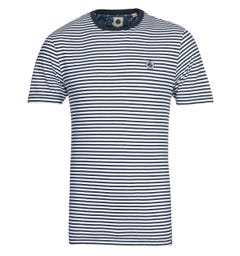 Pretty Green Blue Stripe T-Shirt