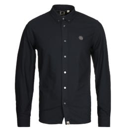 Pretty Green Classic Fit Oxford Black Shirt