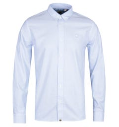 Pretty Green Classic Fit Sky Blue Oxford Shirt