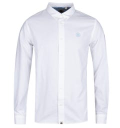 Pretty Green Classic Fit White Oxford Shirt
