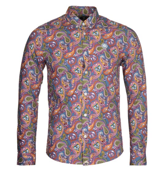 Pretty Green Slim Fit Paisley Print Vintage Shirt