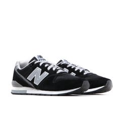 New Balance 996 Black & Silver Suede Trainers