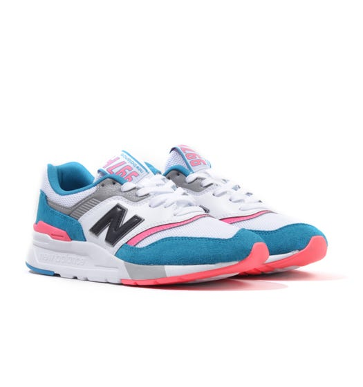 New Balance 997H Suede Trainers - Deep Ozone Blue & Guava