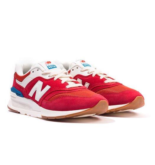 New Balance 977H Suede & Mesh Trainers - Red