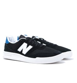 New Balance 300 Black With White Suede Mesh Trainers