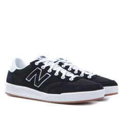 New Balance 300 Black With White Suede Trainers