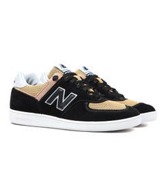 New Balance CT576 Black with Mustard Yellow Suede Trainers