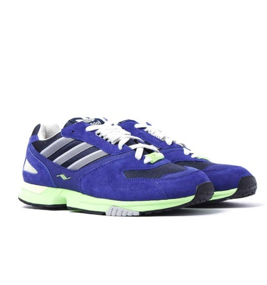 Adidas Originals ZX 4000 Electric Blue Suede Trainers