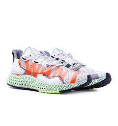 Adidas ZX 4000 4D 'I WANT I CAN' Grey Knit Trainers