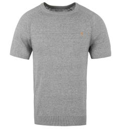 Farah Ethan Light Grey Marl Raglan Sleeve T-Shirt