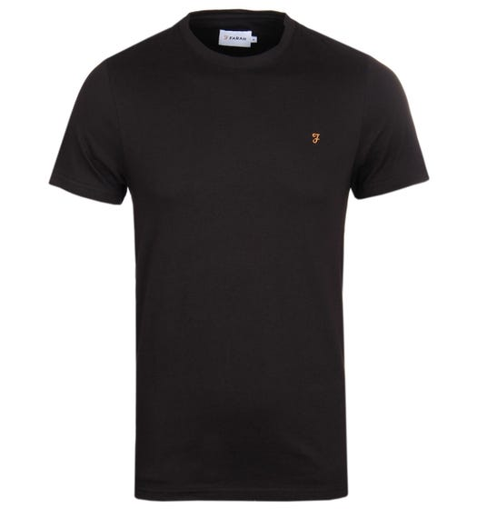 Farah Denny Black Slim Fit Crew Neck T-Shirt