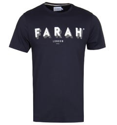 Farah Haven Print Navy Tee