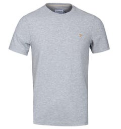 Farah Hannett Textured Stripe Grey Marl T-Shirt