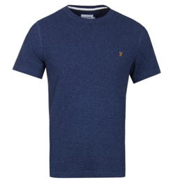 Farah Lesser Crew Dark Yale Marl Short Sleeve Knitted T-Shirt