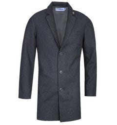 Farah Ruxton Dark Grey Marl Overcoat