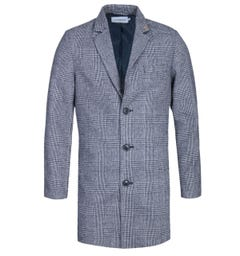 Farah Ruxton Black & White Check Overcoat