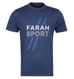 Farah Johnstone Blue Graphic Tee