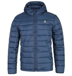 Farah Bournemouth Yale Navy Puffa Jacket